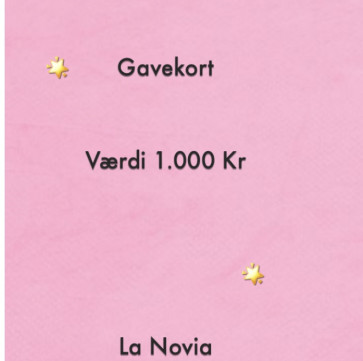 La Novia Gavekort Værdi 1.000,-