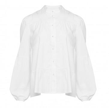 Noella   Kiki Pearl Shirt Poplin i White