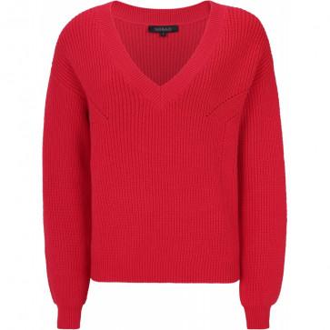 Soft Rebels | Lisa V-neck Knit i red