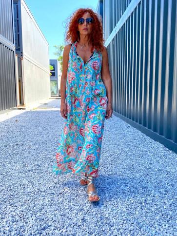 Cabana Living | Londra Dress i Aqua w Flowers