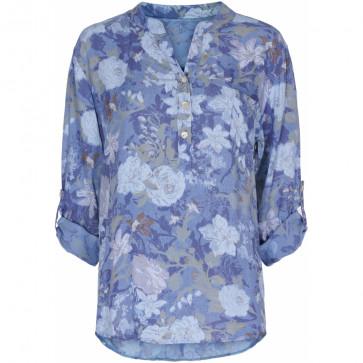 Marta du Chateau | Blouse w Flowers i Blue