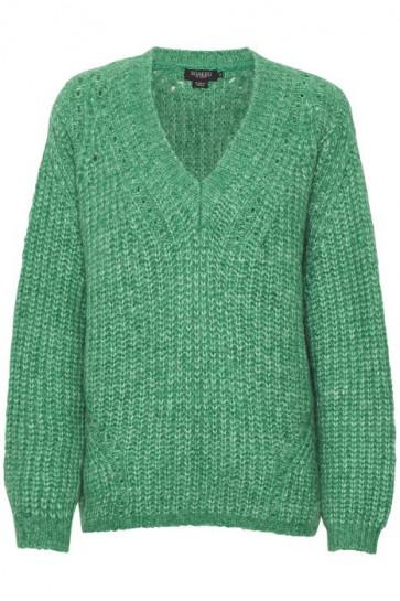 Soaked In Luxury | Vivian Oversized V-neck Pullover i Green