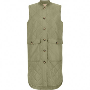 Soft Rebels | Eileen Quilt Vest i Army