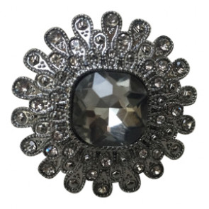 ThreeM | Vintage fingerring med mørk sten