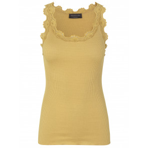 Rosemunde | Blondetop i Silke Dark Yellow
