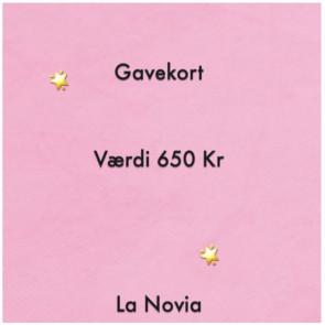 La Novia Gavekort Værdi 650,-