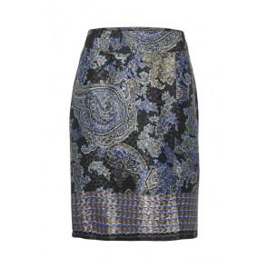 Cream | Patch Skirt i Blue