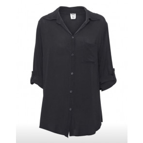 Stajl | Long Shirt i Black