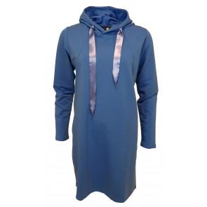 Ofelia | Hoodie Tunic i Clear Blue