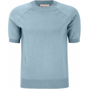 Soft Rebels | O-neck Knit i Smoke Blue