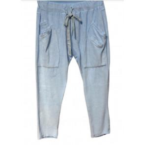 Marta du Chateau | Velour Let Baggy Pants i Light Blue