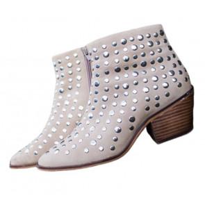 Copenhagen Shoes   Clarissa Boots i sand By Josefine Valentin