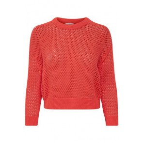 Soaked In Luxury | Cameron Cotton Knit i Coral