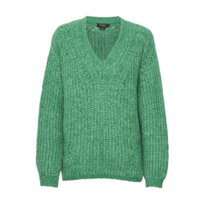 Soaked In Luxury | Vivian Oversized V-neck Pullover i Green