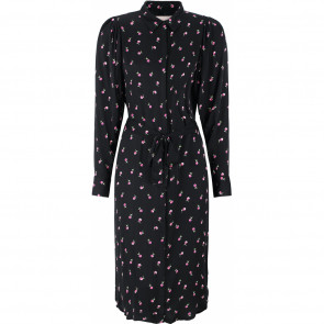 Soft Rebels | Debra Midi Shirt Dress i Dot Flower