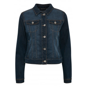 Cream | Lise Denim Jacket i dark blue