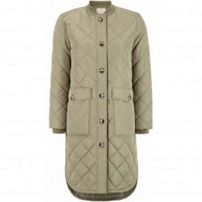 Soft Rebels | Eileen LS Quilt Coat i Covert Green