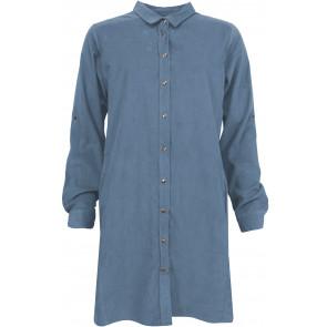 Ofelia   Sentania Fløjl Long Shirt i Blue
