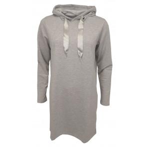 Ofelia | Hoodie Tunic i Melange Grey