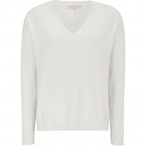 Soft Rebels | Marla Loose V-neck Knit i White