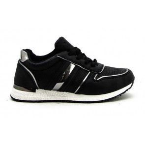 Duffy | Sneakers i black w details