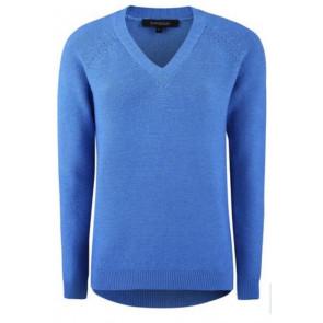 Soft Rebels | Rasmina Oversized V-neck i blue