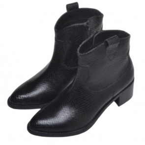 Copenhagen Shoes | Marylee Croco Boot i black
