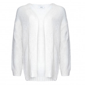 Noella | Kala Knit Cardigan i White