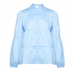 Noella | Kiki Pearl Shirt Poplin i Blue