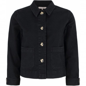 Soft Rebels | Lauren Loose Denim Jacket i Black