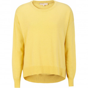 Soft Rebels | Leona O-Neck Oversized Knit i yellow