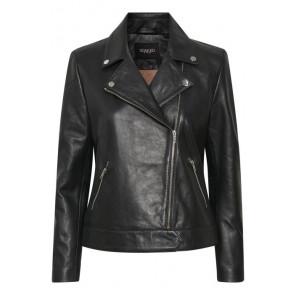 Soaked In Luxury | Maeve Leather Jacket i black