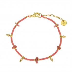 By LIL | Nola ambånd med rosa perler