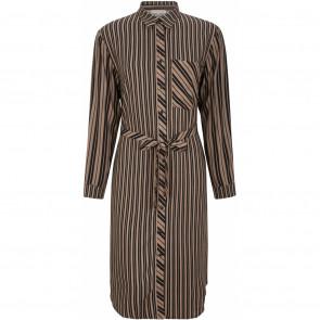 Soft Rebels | Riley Shirt Dress i Brown