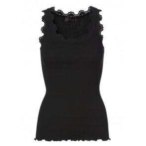 Rosemunde | Blondetop i Silke Black