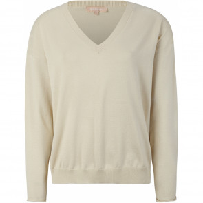 Soft Rebels | Marla V-neck Knit i Sand