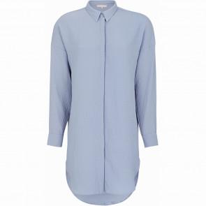 Soft Rebels | Siv Oversized Long Shirt i Blue