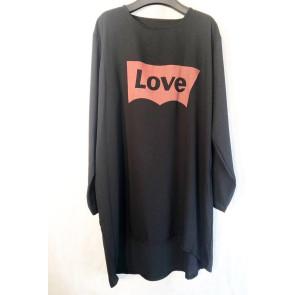La Novia | Love Tunic i Black