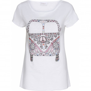 Marta du Chateau | Tee with Print i White