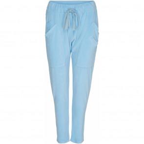 Marta du Chateau   Velour let Baggy Pants i Light Blue