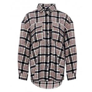 Noella | Vigga Shirt Jacket Orange/rose Checks