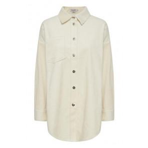 Soaked In Luxury | Viivi Long Fløjl Shirt i Creme