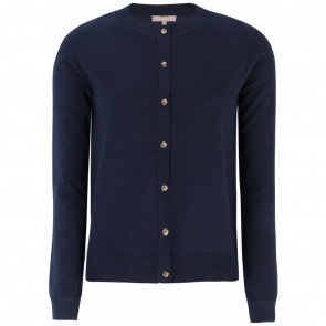 Soft Rebels | SR O-neck Cardigan i Navy